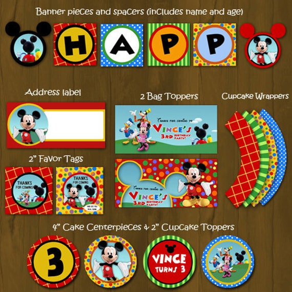 mickey mouse clubhouse diy birthday party invitations tutorial - 500×500