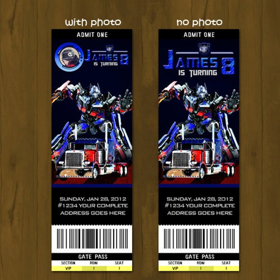 Transformers Birthday Invitations for your inspiration to make invitation template look beautiful