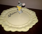 Holland Mold MOUSE and CHEESE Plate