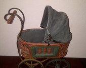 Antique Vintage Baby Doll Carriage Pram Buggy