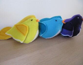 Cute felt birds