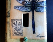 Spring Time Series 3 (Dragon Fly ) Single Toggle - Light Switch Cover
