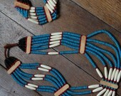 Native American style necklace and bracelet  set //Let's get spiritual//