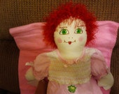 Rag Doll Baby Betsy, a sweet red-haired baby doll