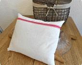 Lavender Filled Vintage Grain Sack Pillow
