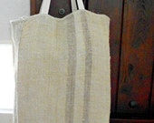 Vintage European Grain Sack  French Market Tote