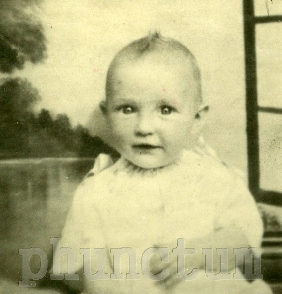 So. Darn. Cute. Sweet Baby Antique Photo Found Vintage Photograph Mom's Hand