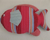 Felted Fish Animal Pillow