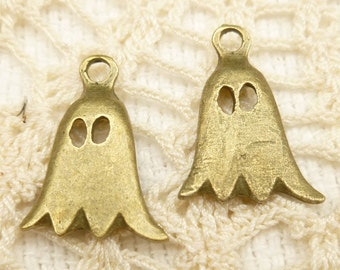 Bronze Tone Ghost Charms (8)
