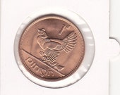 LUCKY UNCIRCULATED 1968 IRISH Penny - Ideal 47th Birthday Gift and St. Patrick's Day