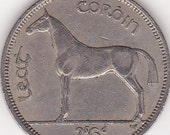 1959 Lucky Irish Half Crown Horse Racing Token/Coin also Ideal 58th Birthday Gift