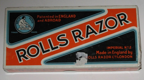 Vintage UNUSED 1930s ROLLS RAZOR with Original Box and All Associated Paperwork