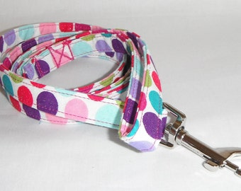 Dog Leash - Sparkly Polka Dot Pattern