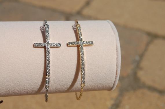 Free Shipping,Side Cross Bracelet SIlver