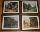 Set 4 Vintage Horse Pictures     1815-1907  7X6 inches in size