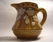 Made in Japan Gold and and Floral Cream Pitcher