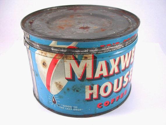 Rustic Maxwell House Coffee Tin