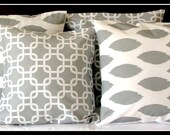 Pillows throw pillows cushion cover sofa  Gray  18 x 18 Inches -Set of Four Pillow Covers