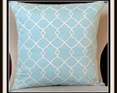 Blue decorative pillow Waverly Designer Pillow Cover18 x 18 inches