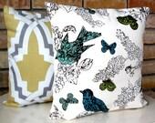 Accent pillow cover Thomas Paul Perch Seaglass designer pillow  accent pillow coiver 18x18 inches