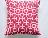 Pillows Pink Decorative pillow designer pillow throw pillow Robert Allen Lattiscape Hibiscus 18x18 inches pillow case