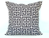 Pillow Cover Accent pillow Throw pillow key Greek Navy Blue pillow cover 18x18 inches