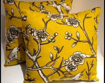 Decorative pillows designer pillows Dwell Studio Vintage Citrin- Set of two Designer Pillow Cover 18 x 18