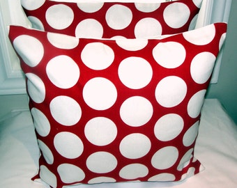 Accent pillow throw pillow cover polka dot pillow cover in 18 x 18 inches cushion cover