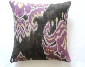 Decorative pillow, accent pillows, designer pillows, home accents, Marreskesh Ikat Dusk 16x16 inches