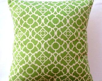 STORE CLOSING SALE  Pillow decorative pillow throw pillow designer pillow Waverly Lattice Green 18x18 inches