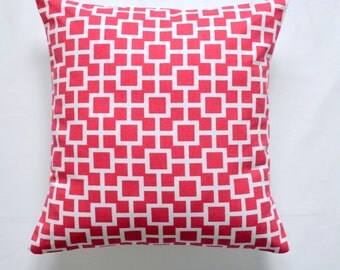 STORE CLOSING SALE Pillows Pink Decorative pillow designer pillow throw pillow Robert Allen Lattiscape Hibiscus 18x18 inches pillow case