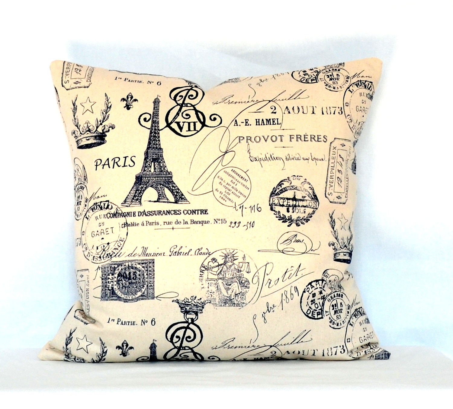 Throw Pillows Black Friday : Black Friday SaleSALE Pillows throw pillow Paris French Stamps