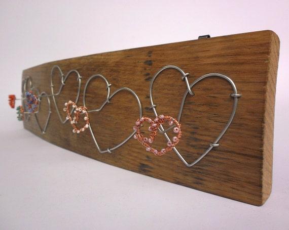 key hanger - 5 hearts