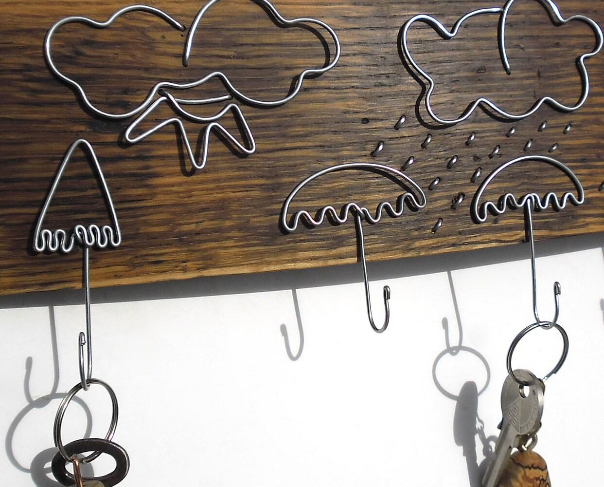 Wood Key Rack Key Hook Key Hanger Umbrellas Third