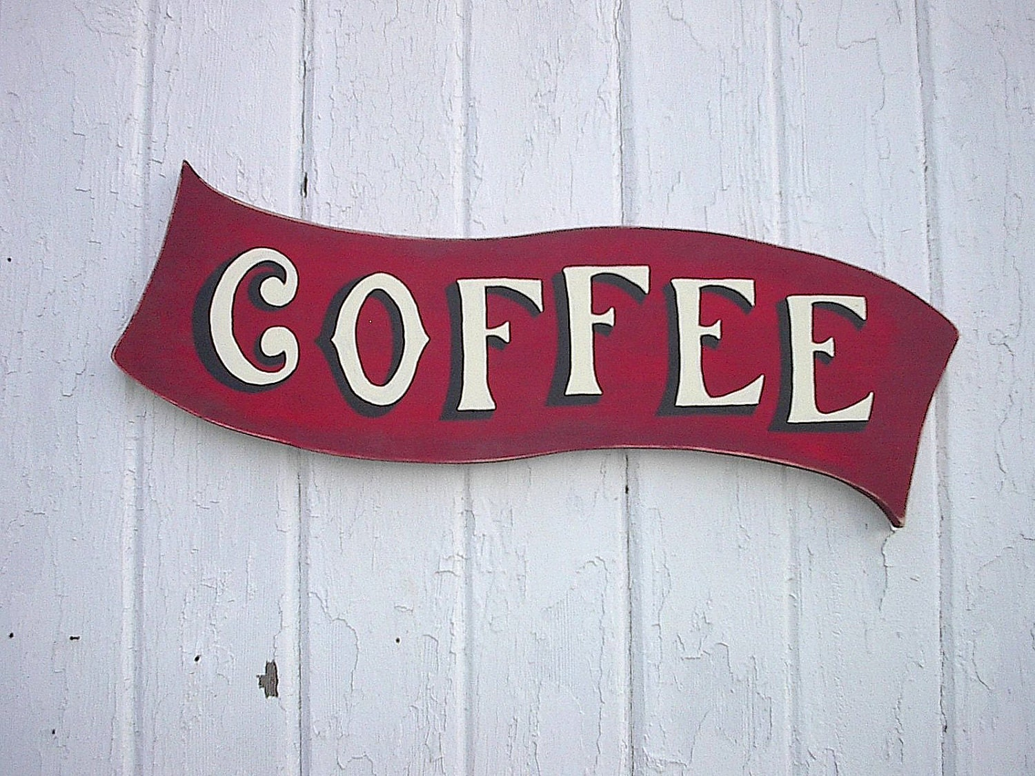 Items Similar To Shabby Chic Coffee Sign Wooden Wall Decor
