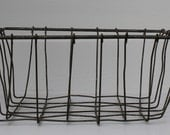 Square Vintage Wire Basket.