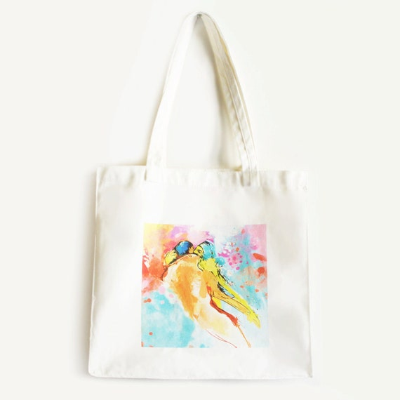 Custom Tote Bag Illustrated White LOVERS