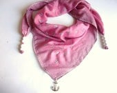 Dusty Rose  Anchor - Nautical Scarf, Cotton Scarf,  Pink