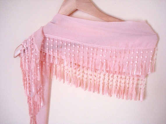 Scarf with Lace, Peach, cotton scarf, for her, for woman, fashion, accessories