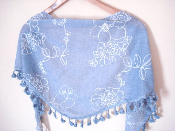 Triangle Shawl Scarf, Grey Blue, fashion, for her, spring trends
