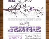 Tree Bridal Shower Invitation, Customizable, Printable