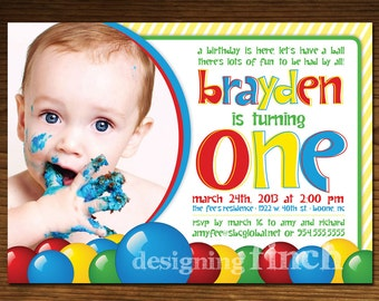 Ball Pit Birthday Invitation, Printable, Customized #46