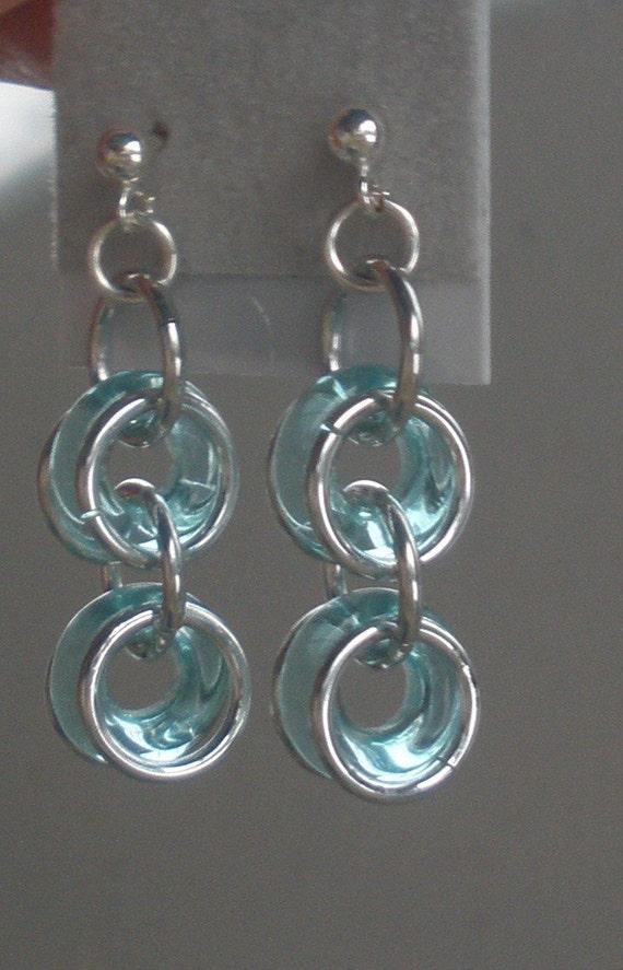 Bicycle Chain Earrings