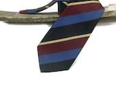 Bordeaux,blue,black Reggimental necktie