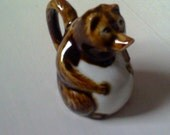 Antique ceramic Tanuki water dropper