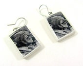 Photo Earrings Martin Luther King MLK Polymer clay Jewelry