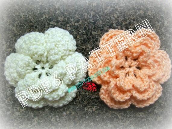 Super easy crochet flower pattern - 2 designs - 1 pattern - PDF6