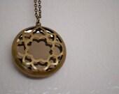 Brass Mirror Necklace