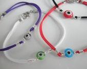 evil eye bracelet - protection bracelet - amulet - tiny evil eye -