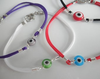 evil eye bracelet - protection bracelet - amulet - tiny evil eye -